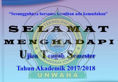 PENGUMUMAN PELAKSANAAN UTS GANJIL 2017/2018
