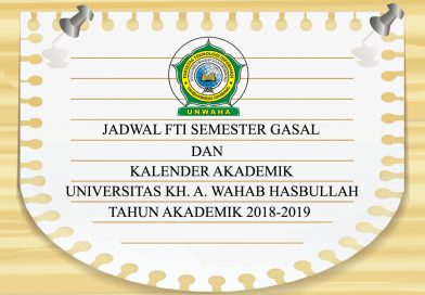 Jadwal FTI Semester Gasal Tahun Akademik 2018-2019