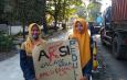 Aksi Solidaritas Mahasiswa FTI UNWAHA dalam penggalangan dana Bencana Gempa Bumi Palu dan Lombok